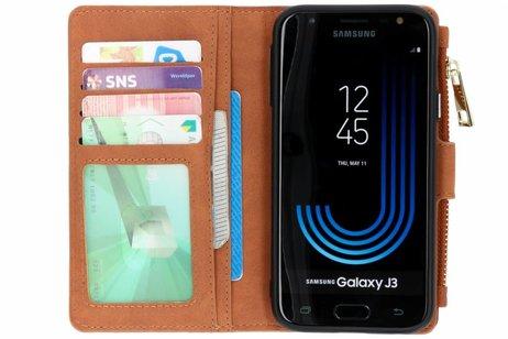 Luxe Portemonnee voor Samsung Galaxy J3 (2017) - Bruin
