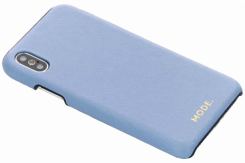 dbramante1928 Blauwe London Leather Snap-On Case voor de iPhone Xs / X