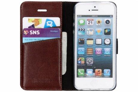 Valenta Leather Booktype voor iPhone SE / 5 / 5s - Bruin