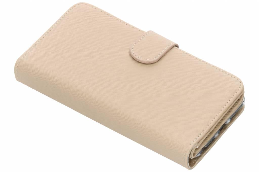 Beige Saffiano 9 slots portemonnee hoes voor de iPhone 8 Plus / 7 Plus / 6(s) Plus