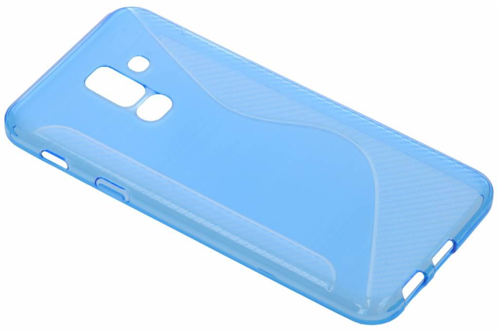 Blauw S-line TPU hoesje voor de Samsung Galaxy A6 Plus (2018)