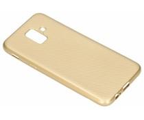 Goud Carbon siliconen hoesje Samsung Galaxy A6 (2018)