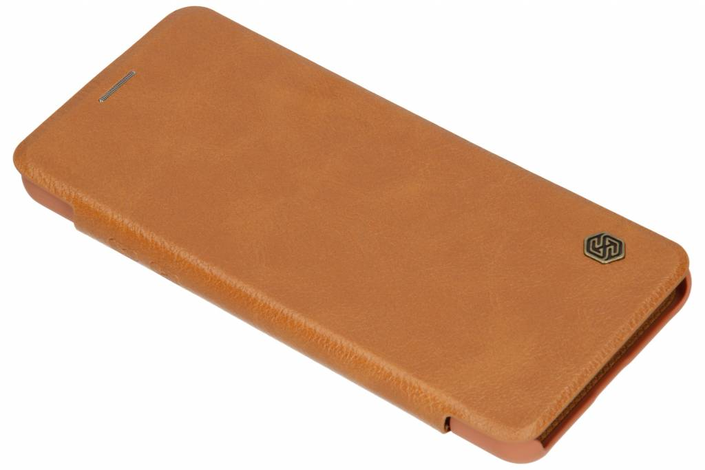 Nillkin Qin Leather Slim Booktype voor LG G7 - Bruin