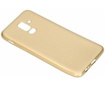 Goud Carbon siliconen hoesje Samsung Galaxy A6 Plus (2018)