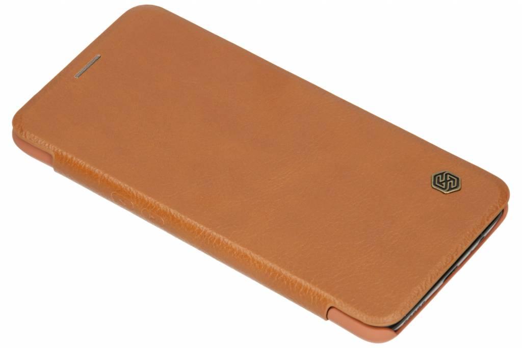 Nillkin Bruine Qin Leather slim booktype voor de OnePlus 6