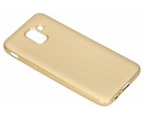 Goud Carbon siliconen hoesje Samsung Galaxy J6