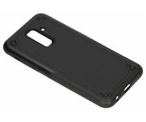 Zwart Rugged hardcase hoesje Samsung Galaxy A6 Plus (2018)