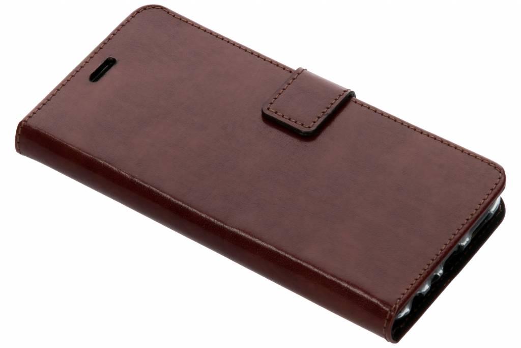 Valenta Bruine Booklet Leather voor de Huawei P Smart
