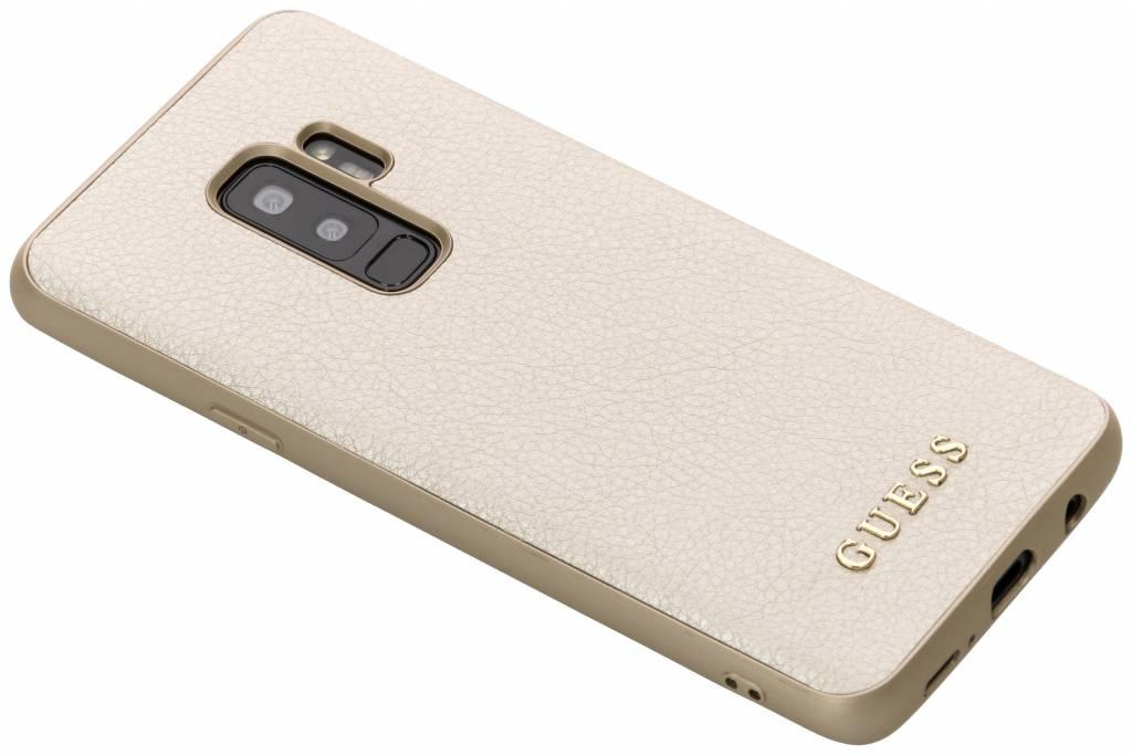 Guess Gouden iriDescent Hardcase voor de Samsung Galaxy S9 Plus
