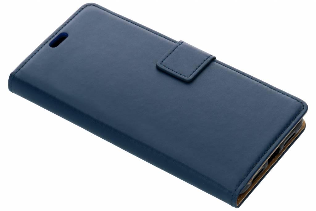 Blauwe Basic TPU booktype hoes voor de Xiaomi Mi 8 / 8 Explorer