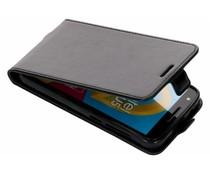 Zwart lederen TPU Flipcase Alcatel U5 4G