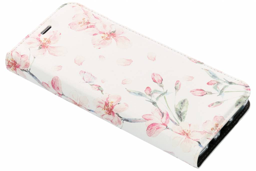 Design Softcase Booktype voor Samsung Galaxy S9 Plus - Bloesem Watercolor
