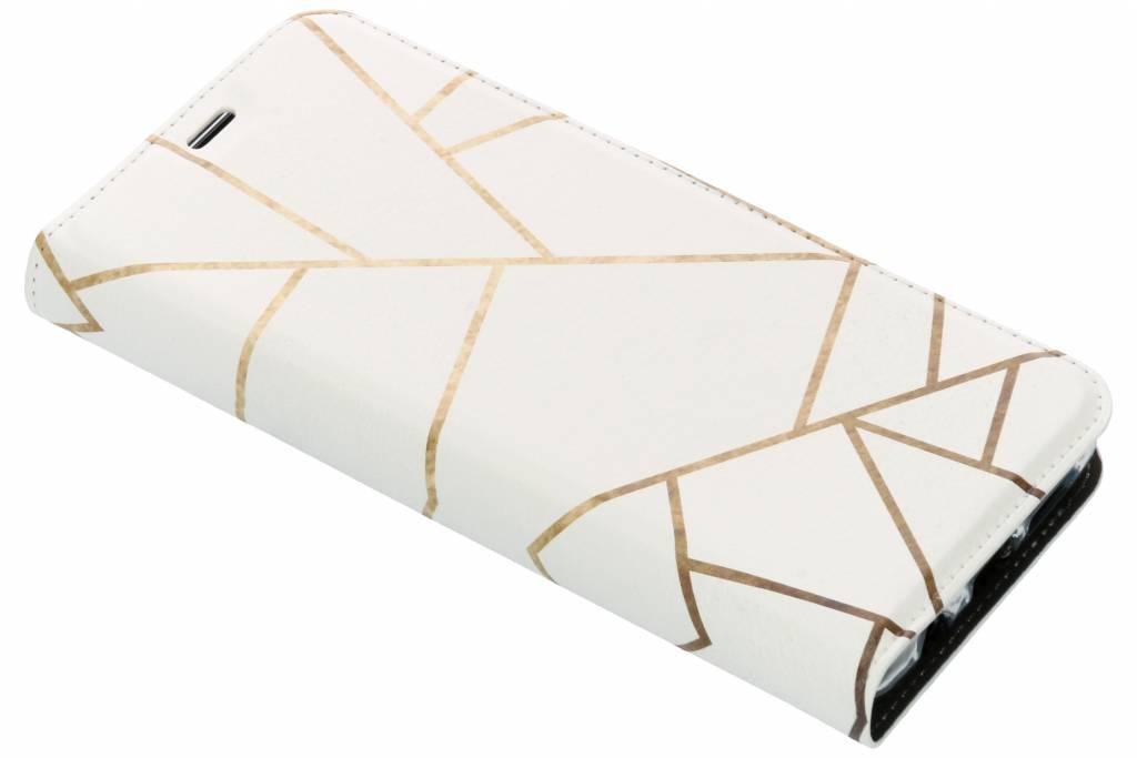 Wit Grafisch Design TPU Bookcase voor de Samsung Galaxy S9 Plus