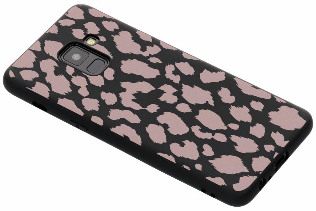 Panter roze design siliconen hoesje voor de Samsung Galaxy A8 (2018)