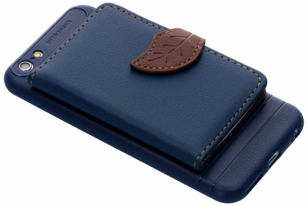 Blauw blad design TPU hoesje voor de iPhone 6 / 6s