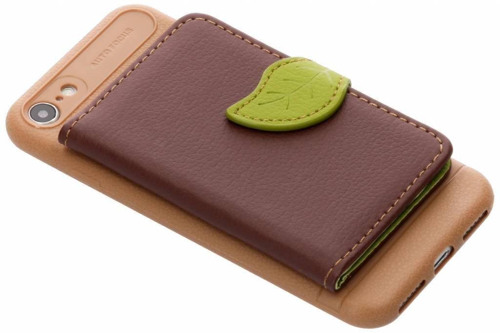 Bruin blad design TPU hoesje voor de iPhone 8 / 7
