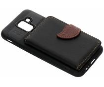 Zwart blad design TPU hoesje Samsung Galaxy J6