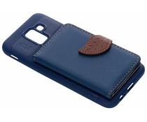 Blauw blad design TPU hoesje Samsung Galaxy J6
