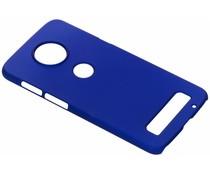 Blauw Effen hardcase hoesje Motorola Moto Z3 Play