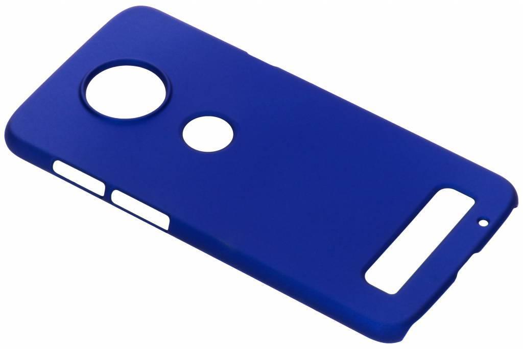 Effen Backcover voor Motorola Moto Z3 Play - Blauw