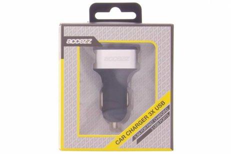 Accezz 3-Poorts Car Charger - 5.8 ampère