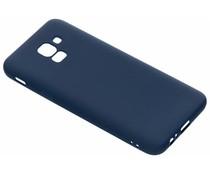 Donkerblauw Color TPU hoesje Samsung Galaxy J6