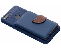 Blauw blad design TPU hoesje Huawei Y6 (2018)