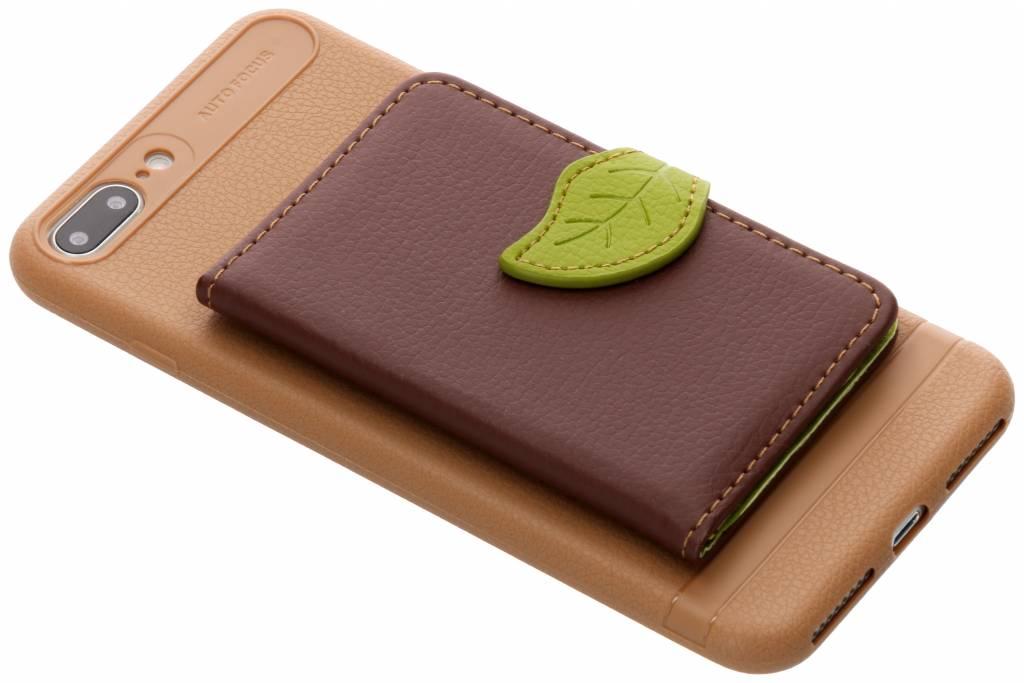Bruin blad design TPU hoesje voor de iPhone 8 Plus / 7 Plus