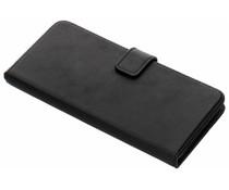 Selencia OnePlus 5T hoesje zwart - Echt lederen booktype