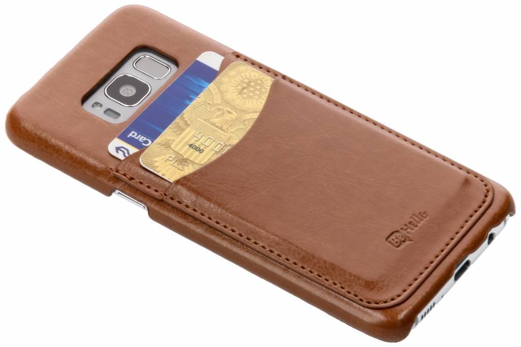 Be Hello Bruine Card Case voor de Samsung Galaxy S8