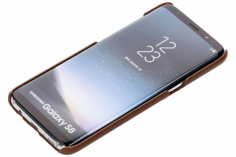 Be Hello Card Backcover voor Samsung Galaxy S8 - Bruin