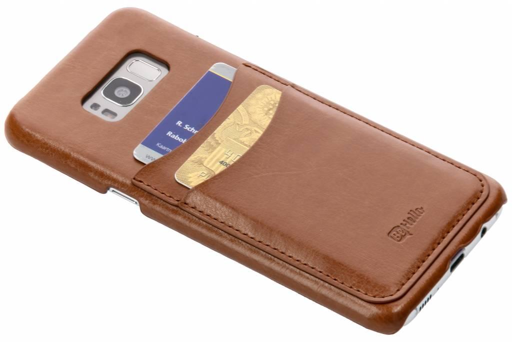 Be Hello Bruine Card Case voor de Samsung Galaxy S8 Plus