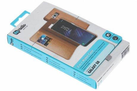 Be Hello 2 in 1 Wallet Case voor Samsung Galaxy S8 - Bruin