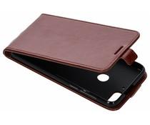 Bruin lederen TPU Flipcase HTC Desire 12 Plus