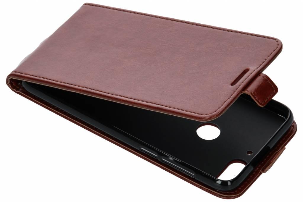 Lederen Flipcase voor HTC Desire 12 Plus - Bruin