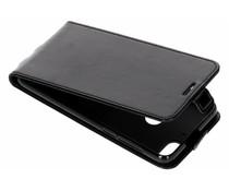 Zwart lederen TPU Flipcase HTC Desire 12 Plus