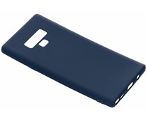 Donkerblauw color TPU hoesje Samsung Galaxy Note 9