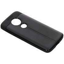 Lederen Backcover met stiksel Motorola Moto E5 / G6 Play