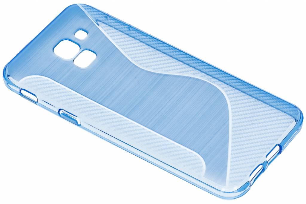Blauw S-line TPU hoesje voor de Samsung Galaxy J6