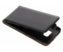 Zwart luxe flipcase HTC U Ultra