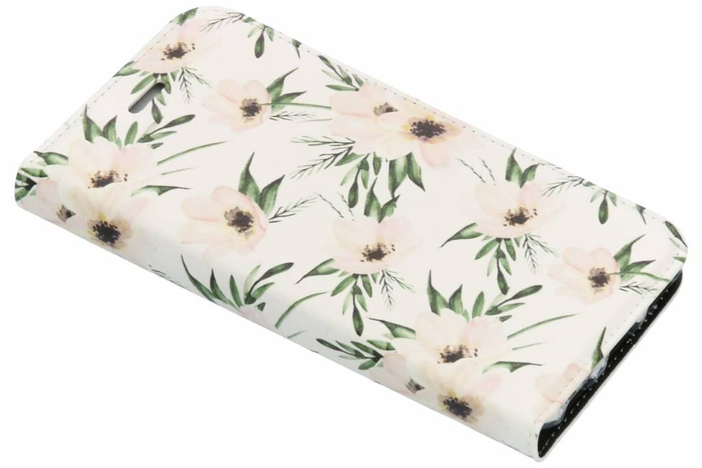 Wit Bloemen Design TPU Bookcase voor de iPhone 6 / 6s