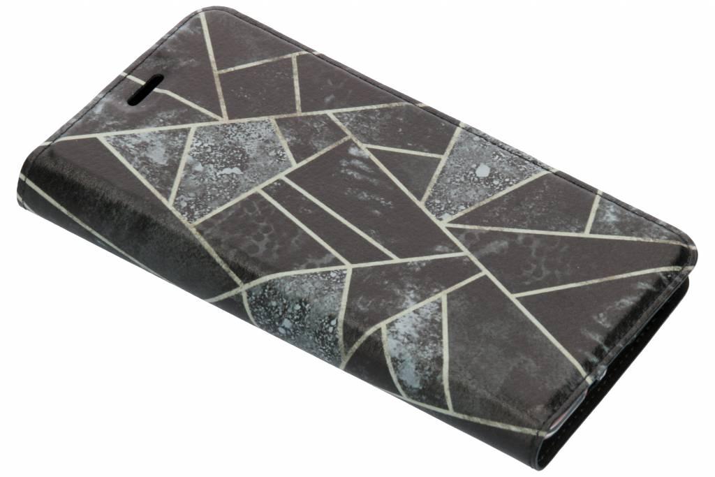 Grijs Grafisch Design TPU Bookcase voor de Nokia 7 Plus
