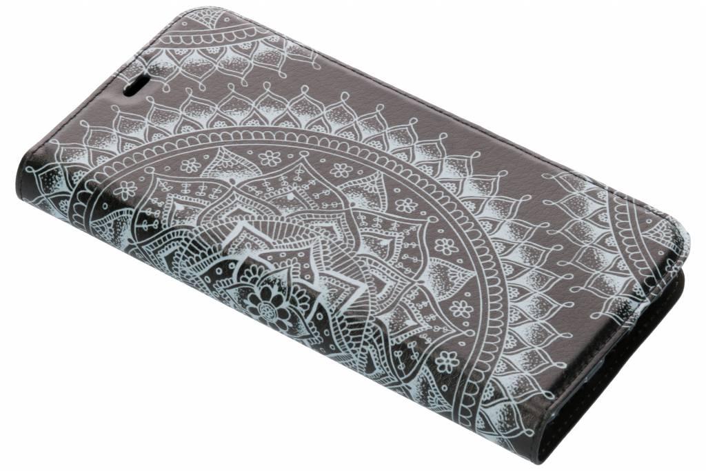 Zwart Mandala Design TPU Bookcase voor de OnePlus 6