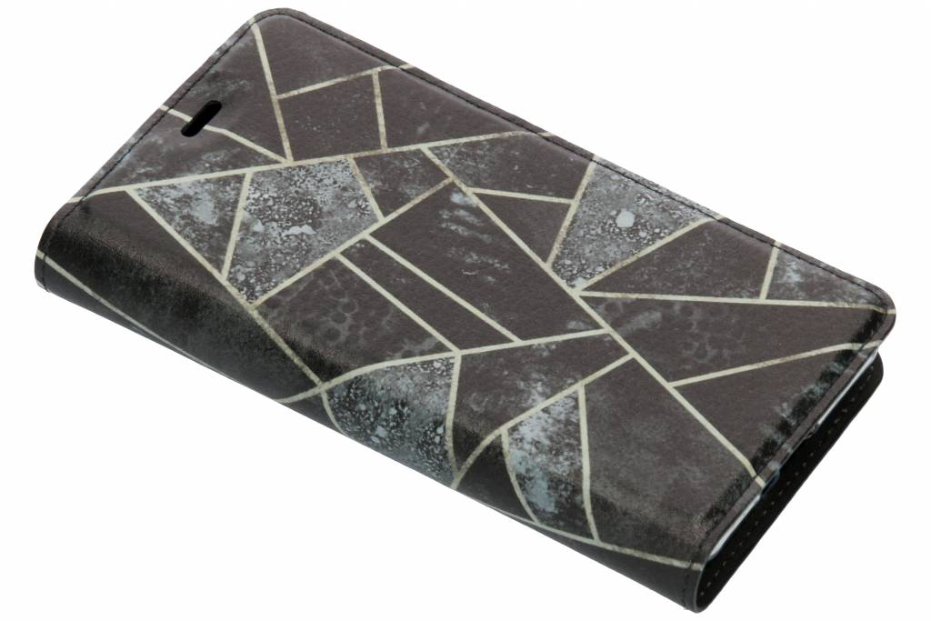Grijs Grafisch Design TPU Bookcase voor de Sony Xperia XZ2 Compact