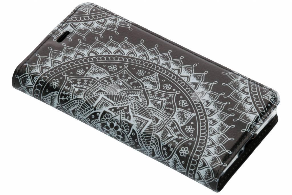 Zwart Mandala Design TPU Bookcase voor de Sony Xperia XZ2 Compact
