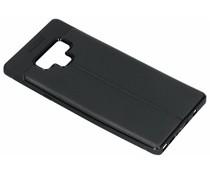 Zwart lederen siliconen case Samsung Galaxy Note 9