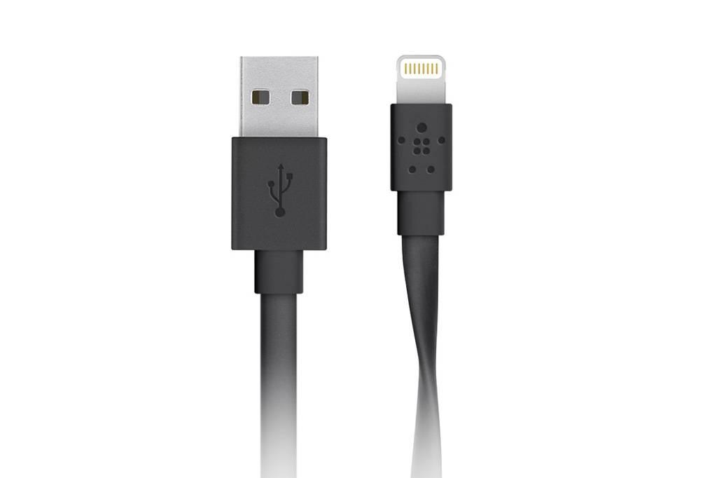 Zwarte MIXIT↑™ Flat Lightning naar USB kabel - 1,2 meter