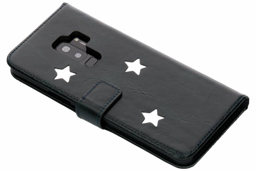 Silver Reversed Star Booktype hoes voor de Samsung Galaxy S9 Plus