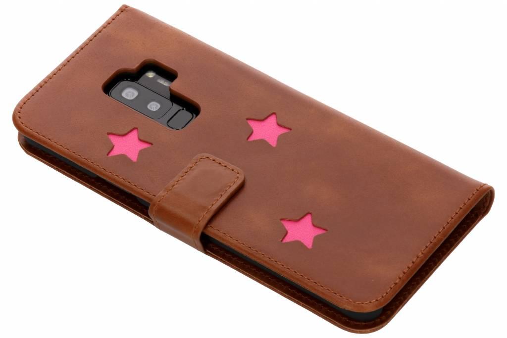 Pink Reversed Star Booktype hoes voor de Samsung Galaxy S9 Plus