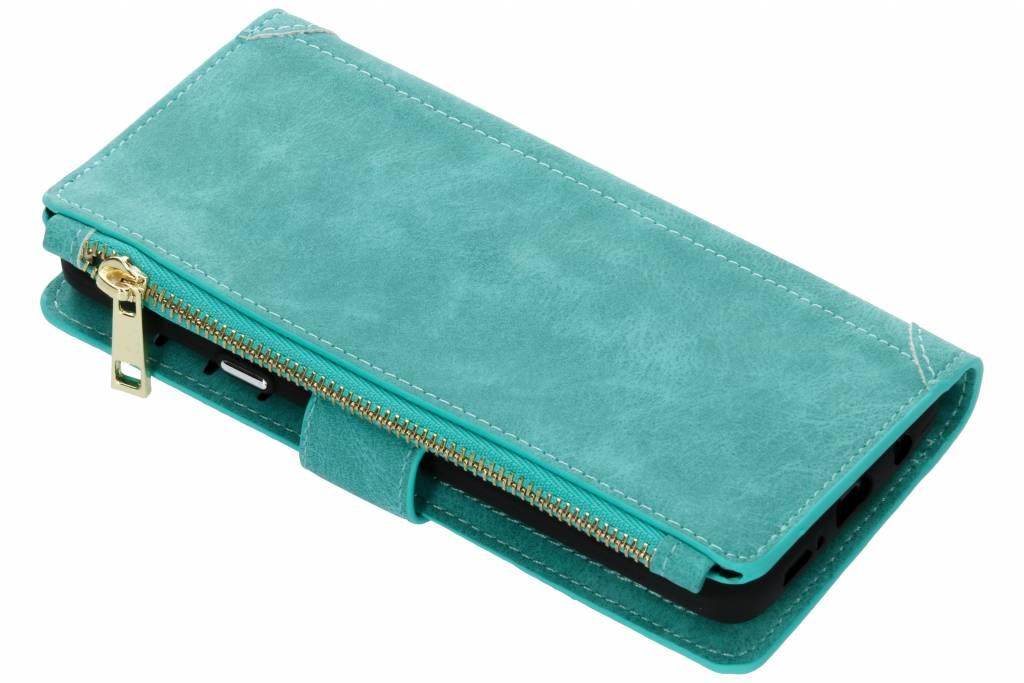 Turquoise luxe portemonnee hoes voor de Samsung Galaxy S9 Plus